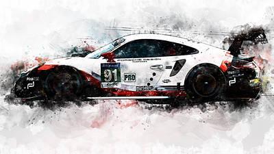 Painting - Porsche Rsr 2017 - 57 by Andrea Mazzocchetti
