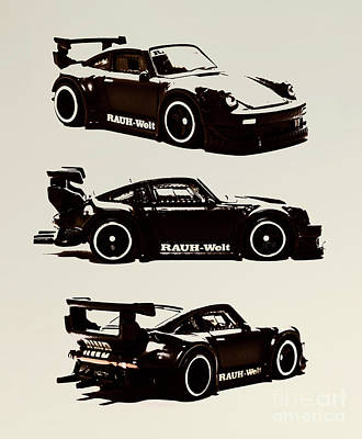 City Scenes - Porsche RWB 930 by Jorgo Photography - Wall Art Gallery