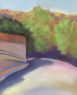 Pastel - Port Costa Street In Bay Area by Linda Ruiz-Lozito