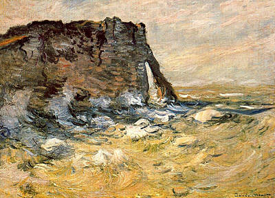 Traditional Bells Rights Managed Images - Port d Aval, 1926 Royalty-Free Image by Claude Monet
