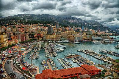 Photograph - Port Hercules Monte Carlo Monaco by Wayne Moran