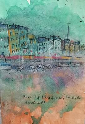 Wall Art - Mixed Media - Port Of Honfleur, France by Elaine Marie
