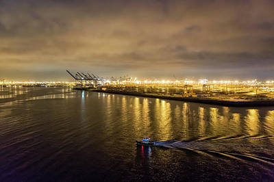 Photograph - Port Of Los Angeles At Dawn by Belinda Greb