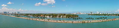 Photograph - Port Of Miami Panoramic by Kristia Adams