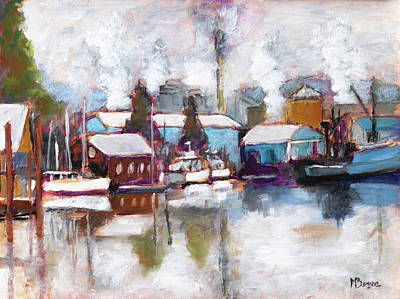 Painting - Port Of Toledo Marina by Mike Bergen