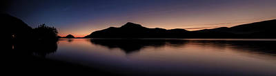 Open Impressionism California Desert - Porteau Cove Panoramic Blue Hour 2 by Monte Arnold