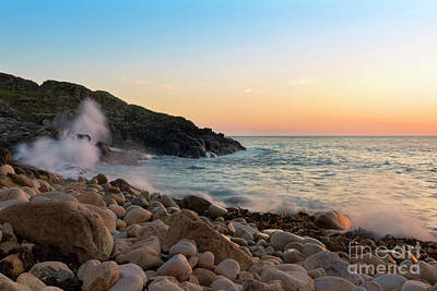 Photograph - Porth Nanven Splashback by Terri Waters