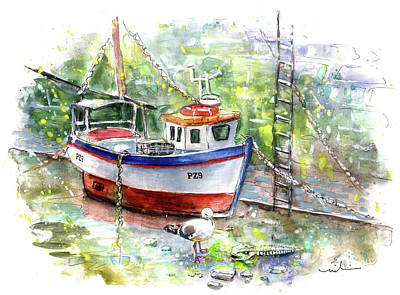 Painting - Porthleven 01 by Miki De Goodaboom