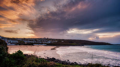 Porthmeor In The Sky Art Print