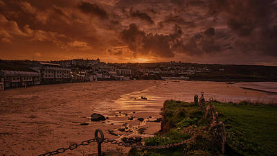 Photograph - Porthmeor Sunset 2 by Eddy Kinol