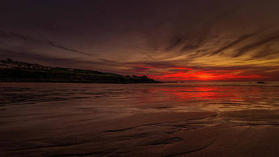 Photograph - Porthmeor Sunset by Eddy Kinol