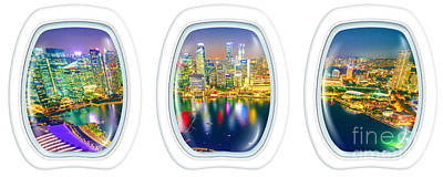 Photograph - Portholes Frame Singapore by Benny Marty