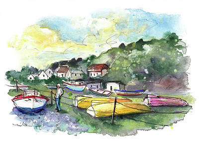 Painting - Porthoustock On Lizard Peninsula 01 by Miki De Goodaboom