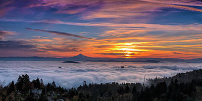 Photograph - Portland Engulfed In Fog by Wes and Dotty Weber
