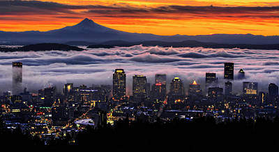 Photograph - Portland Fog Waves by Wes and Dotty Weber