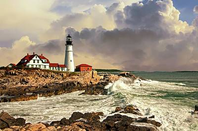 Photograph - Portland Head Light After The Storm by Paul Mangold