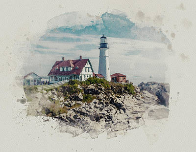 Portland Head Lighthouse Cape Elizabeth Maine Art Print