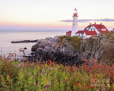 Photograph - Portland Head Lighthouse  by Cheryl Del Toro