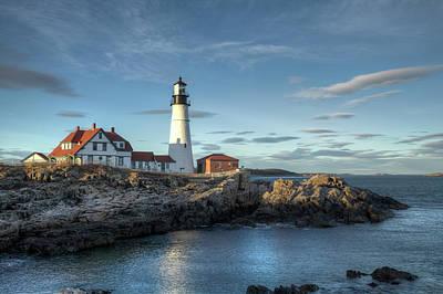 Sunset Photograph - Portland Head Lighthouse by Kenneth C. Zirkel