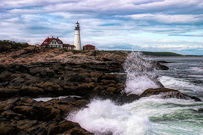 Photograph - Portland Head Lighthouse Maine by Jeff Folger