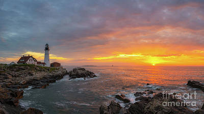 Photograph - Portland Head Lighthouse Sunshine  by Michael Ver Sprill