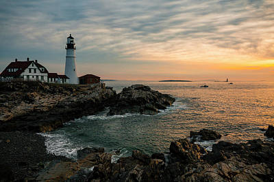 Photograph - Portland Head Sunrise Final by ProPeak Photography