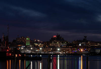 Photograph - Portland, Maine Skyline by Bob Doucette
