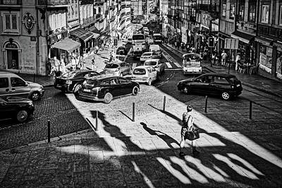 Photograph - Porto Busy Street - Portugal by Stuart Litoff