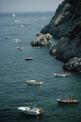 Object Photograph - Porto Ercole Boats by Slim Aarons