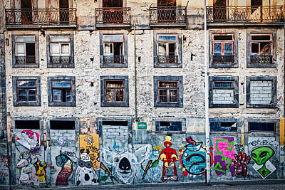 Photograph - Porto Graffiti And Architecture - Portugal by Stuart Litoff