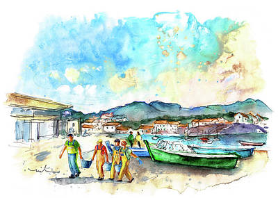 Painting - Portocubelo In Galicia 01 by Miki De Goodaboom