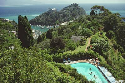Swimming Photograph - Portofino Villa by Slim Aarons