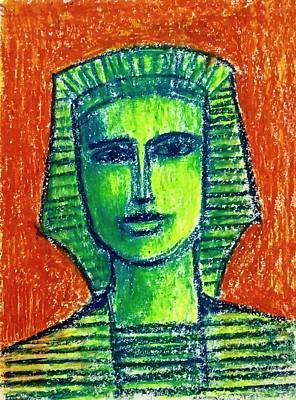 Painting - Portrait by Asha Sudhaker Shenoy
