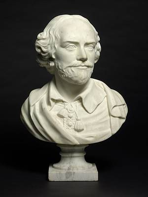 Photograph - Portrait Bust Of William Shakespeare by Louis Francois Roubiliac