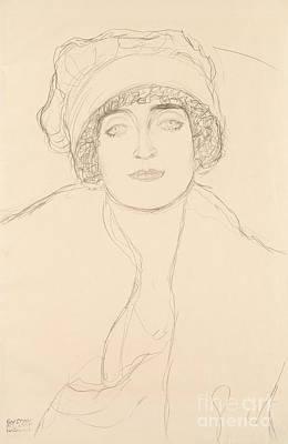 Drawing - Portrait In A Hat By Klimt by Gustav Klimt