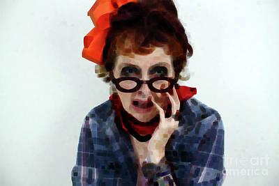 Portrait In Question  Art Print by Steven Digman