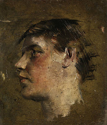 Painting - Portrait Of A Boy by Max Klinger