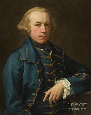 Painting - Portrait Of A Gentleman, Circa 1762 by Pompeo Girolamo Batoni