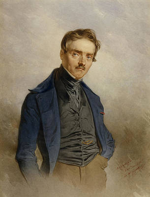 Painting - Portrait Of A. L. Barye by Charles Camino