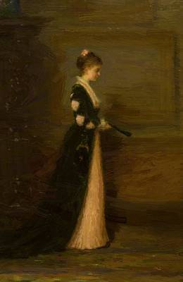 Joseph Farquharson Wall Art - Painting - Portrait Of A Lady by Farquharson Joseph