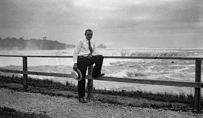 Painting - Portrait Of A Man By Niagara Falls 1920 by Celestial Images