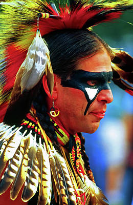 Photograph - Portrait Of A Native American by Bill Jonscher