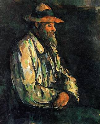 Outerspace Patenets Rights Managed Images - Portrait of a Peasant 1906 Royalty-Free Image by Paul Cezanne Paintings