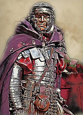 Painting - Portrait Of A Roman Legionary - 39 by Andrea Mazzocchetti
