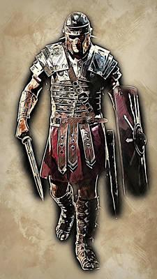 Painting - Portrait Of A Roman Legionary - 41  by Andrea Mazzocchetti