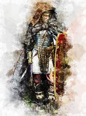 Painting - Portrait Of A Roman Legionary - 43 by Andrea Mazzocchetti