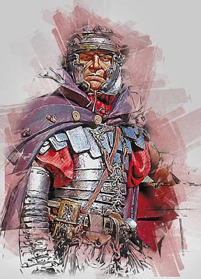 Painting - Portrait Of A Roman Legionary - 44 by Andrea Mazzocchetti