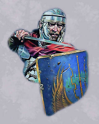 Painting - Portrait Of A Roman Legionary - 45 by Andrea Mazzocchetti