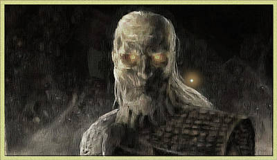 Digital Art - Portrait Of A Whitewalker by Mario Carini