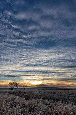 Photograph - Portrait Of A Winter Sunrise On The Plains by Tony Hake